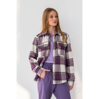 Рубашка Кампи 6720 сиреневая