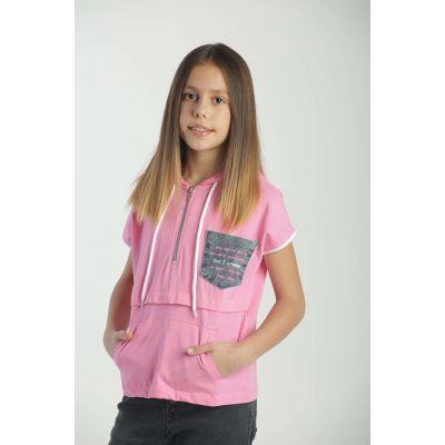 Футболка для девочка  4123 розовая