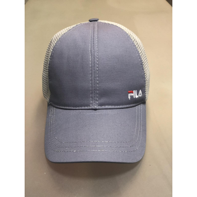Блайзер кепка сетка №85 Fila серый