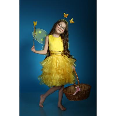 Карнавальный костюм Фея Феечка желтая