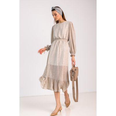 Платье Анзалия 7047 бежевое