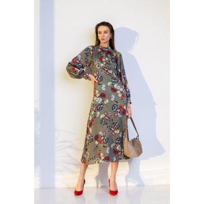 Платье Варуна 7042 оливковое