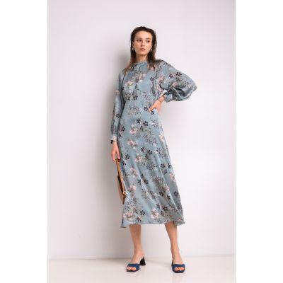 Платье Варуна 7043 серо-мятное