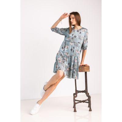 Платье Милея 7033 оливковое