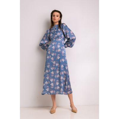 Платье Варуна 7041 васильковое