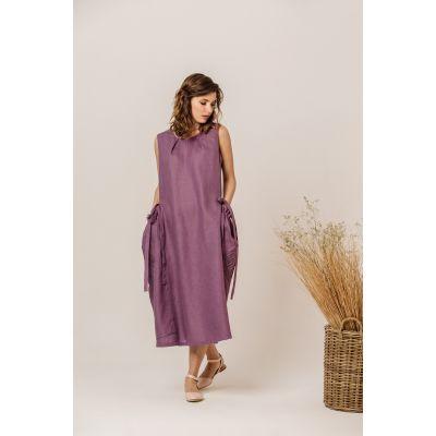 Платье вышиванка Джулия виноградная В