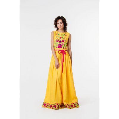 Платье вышиванка Подсолнечник В