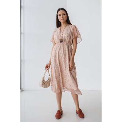 Платье Индэрия 7116 персиковое