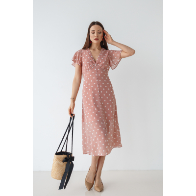 Платье Тамелия 7045 пудра
