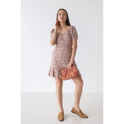 Платье Лакения 7087 пудра