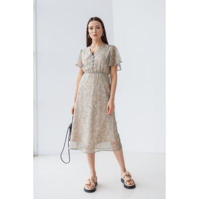 Платье Индэрия 7117 оливковое