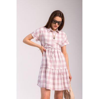 Платье Савина 7089 пепельно-розовое