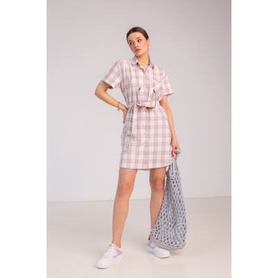 Платье Бингали 7108 пепельно-розовое