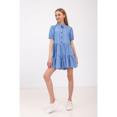 Платье Лагрейн 6952 джинсовое