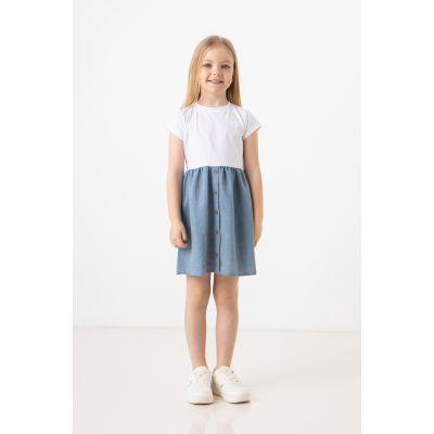 Платье Миндия 7281 джинсовое