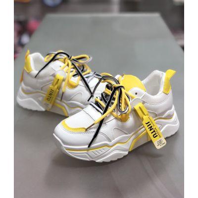 Кроссовки AB119-6 бело-желтые