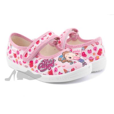 Туфли текстильные 360-157 Алина розовые девочка