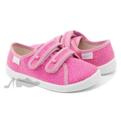 Туфли текстильные 277-0 Саша розовые, жемчужинки