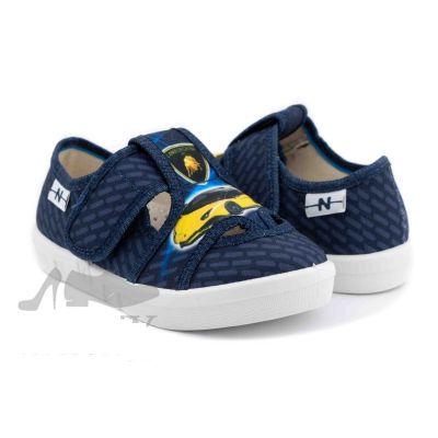 Туфли текстильные 360-396 Robert синие, машина