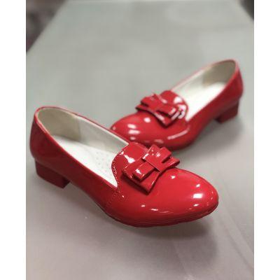 Лоферы туфли D515 красные