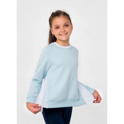 Свитшот для девочки 116492 голубой