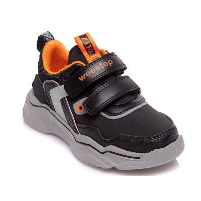 Кроссовки 810253952 BK черно оранжевые