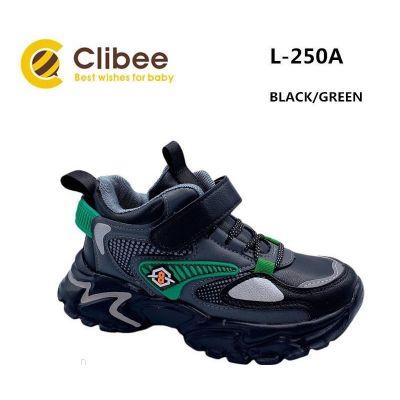 Кроссовки черно-зеленые L250A