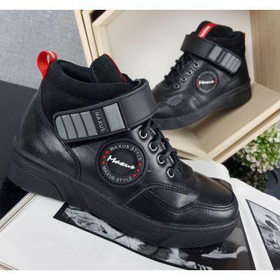 Ботинки черные деми Супра