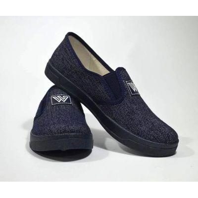 Туфли текстильные 224-495 Виктор синий джинс