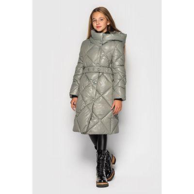 Куртка пальто Эвелина оливковая