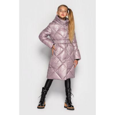 Куртка пальто Эвелина сирень пудра