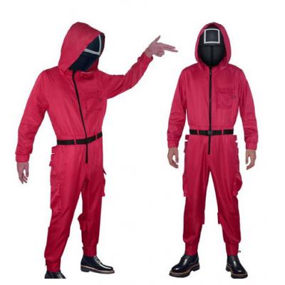 Карнавальный костюм Игра в кальмара Охранник в красном Униформа охранника