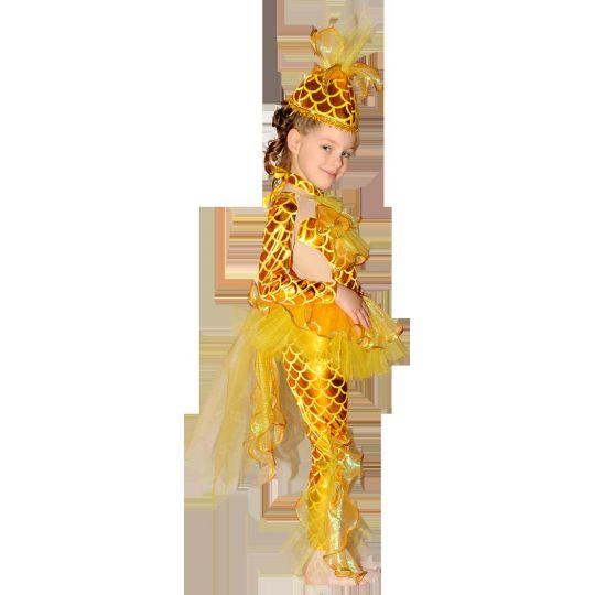 Карнавальный костюм Принцесса Золотая рыбка 652