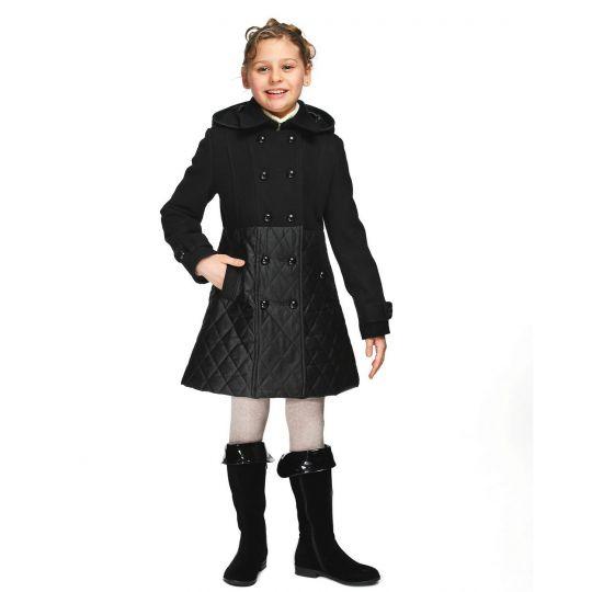 Пальто для девочки Д077 черный