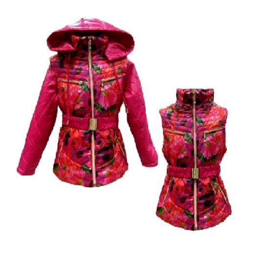 Куртка - жилет для девочки демисезонная Злата