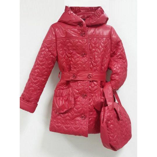 Куртка демисезонная для девочки Лаура красный