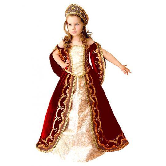 Карнавальный костюм для девочки Царица (красная) 6031