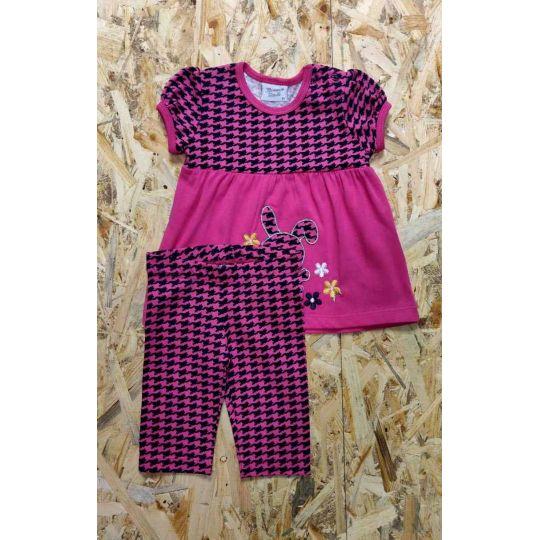 Комплект (футболка и бриджи) для девочки 5448 фуксия