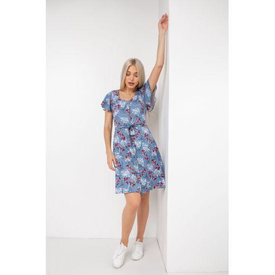 Платье  Карота Джинсовый цветок