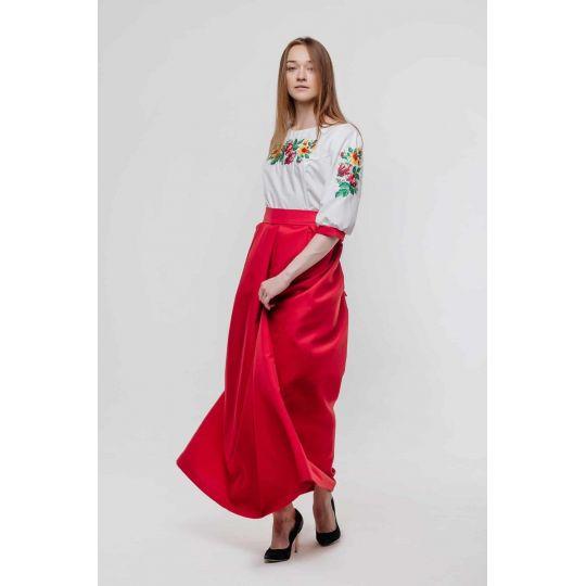 Платье вышиванка Аврора длинная юбка