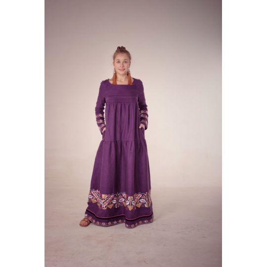 Платье вышиванка Виноград
