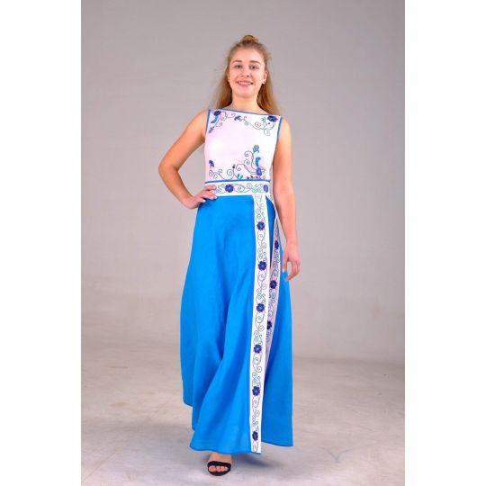 Платье вышиванка Незабудка