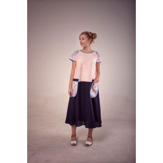 Платье вышиванка Подснежник №2