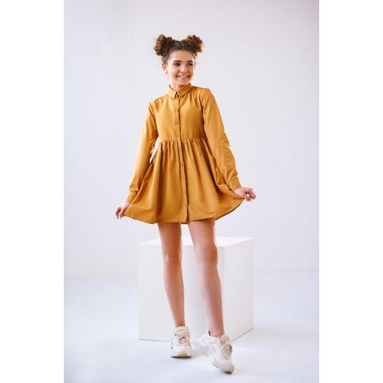Платье Ламма 4841 горчичное