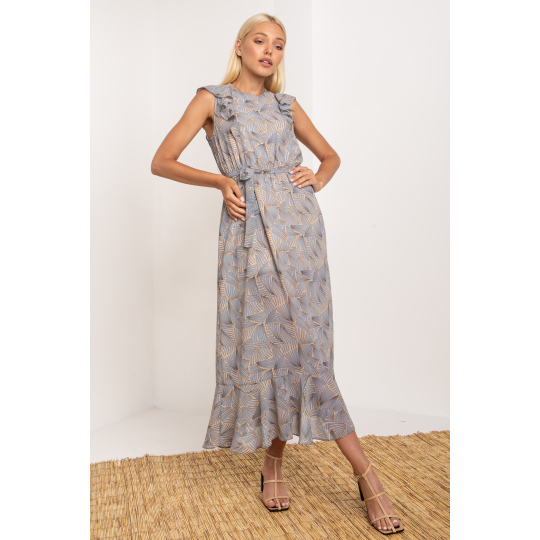Платье Триони 5277 бежевое