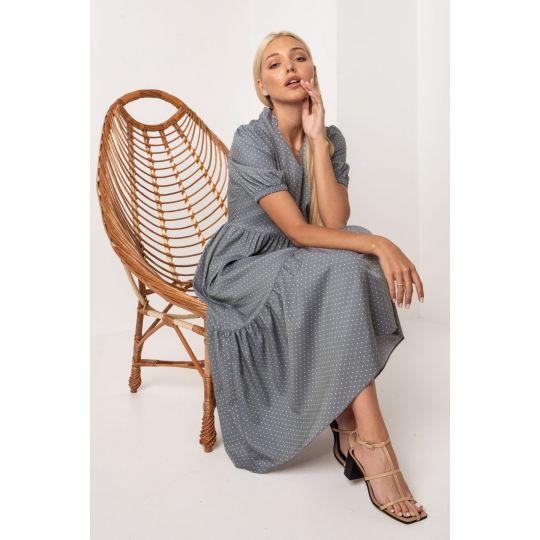 Платье Юкка 5314 серо-мятное