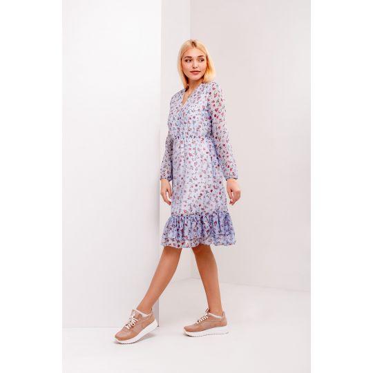 Платье Жасмин 4964 голубое