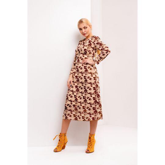 Платье Одри 4935 бежевое