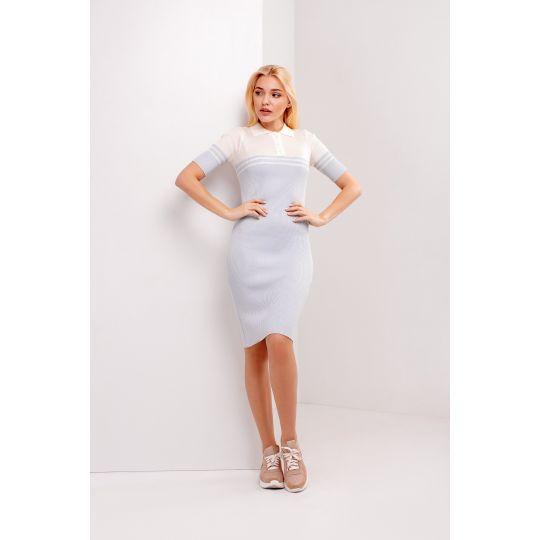 Платье Альма 4737 голубое