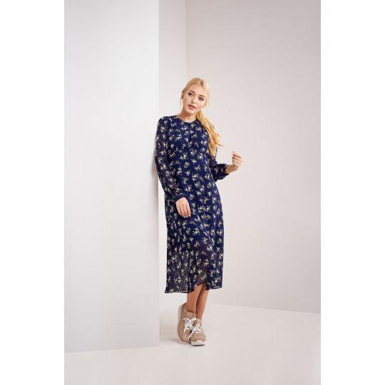 Платье Люсия 4760 синий букет